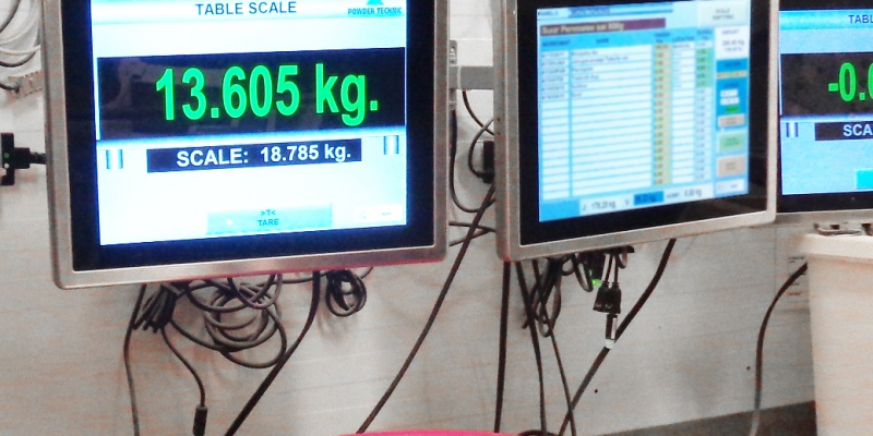 Table scale and main operator panel, AS Eesti Pagar