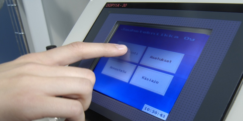 Fillermatic comes with a PLC control and user friendly touch screen.