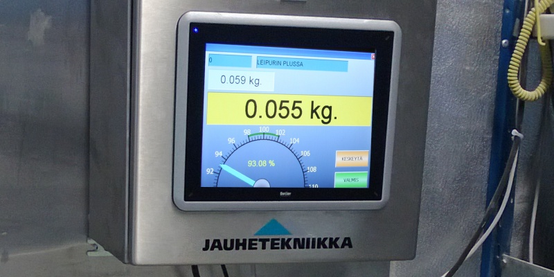 Manual dosing by Recipe controller table scale powder technic