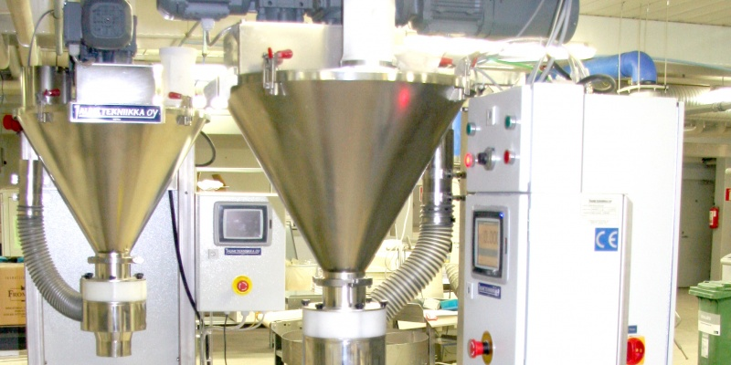 Two FIllermatic™ machines for spice mixes. MP Maustepalvelu Oy