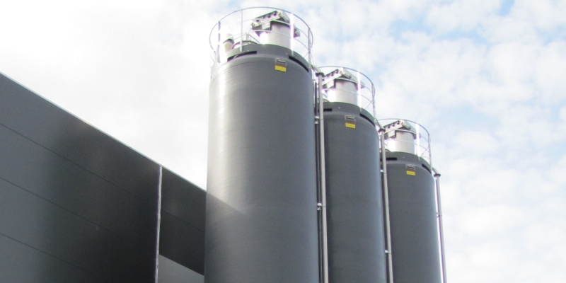 3 pcs of GRP silos for bakery flours