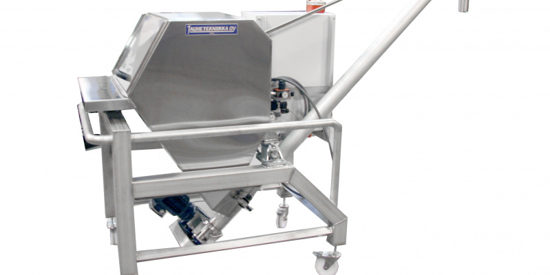 Automated  continuous loss-in-weight dosing of CMC powder in cheese production line. Valio Oy