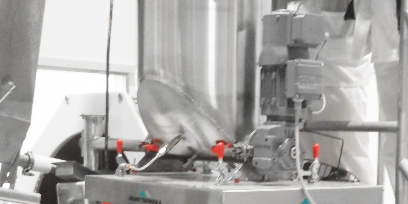Automated dosing of spice mixer in chips production. Linkosuon Leipomo Oy