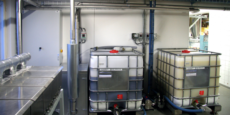 Dosing of liquid margarine and syrup in Henrikkson Bakery