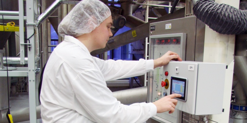 Dosing Controller is connected to Factory automation system for quality control