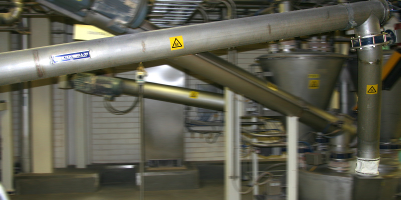 Conveyor screw Nestle